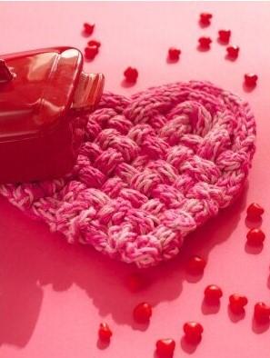 Сердце из шнура крючком