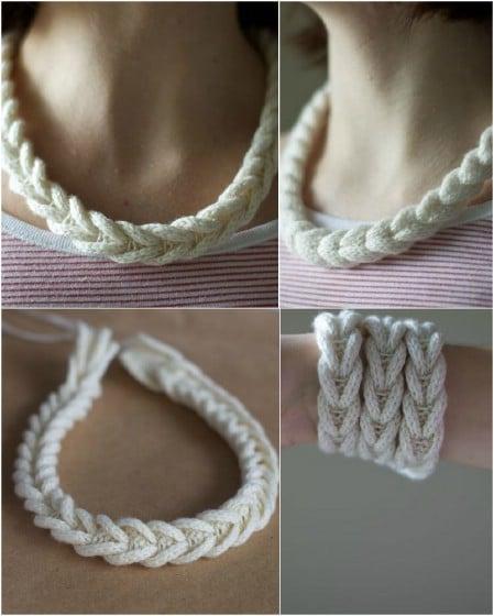 Подвеска из шнура крючком