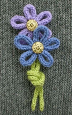 Цветок из шнура крючком