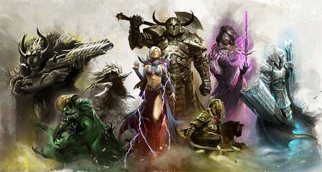 The eight classes of Guild Wars 2