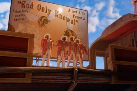 """The barbershop quarter covering """"God Only Knows"""". Source: gaming.stackexchange.com"""