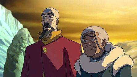 Aang's youngest son Tenzin and Katara (Source: img2.wikia.nocookie.net)