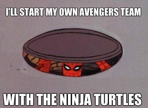 Spiderman-Ill-start-my-own-avengers-team-with-the-ninja-turtles