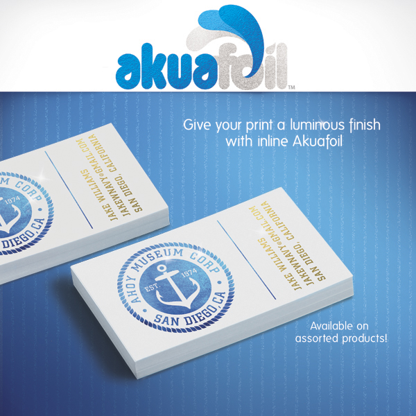 akuafoil business cards custom printing