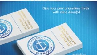 Custom business cards foil accent uz marketing akuafoil business cards custom printing colourmoves