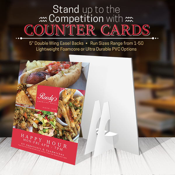 Counter Cards Printing Are Efficient Pop Display
