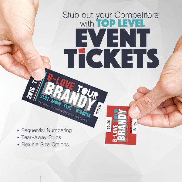 Custom Event Tickets Printing Stub Out The Competitors