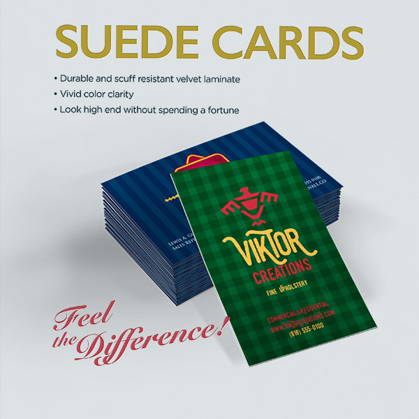 Suede Business Cards Engage Customers