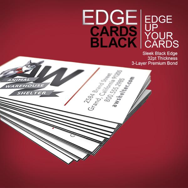 thick business cards u2013 premium edge cards