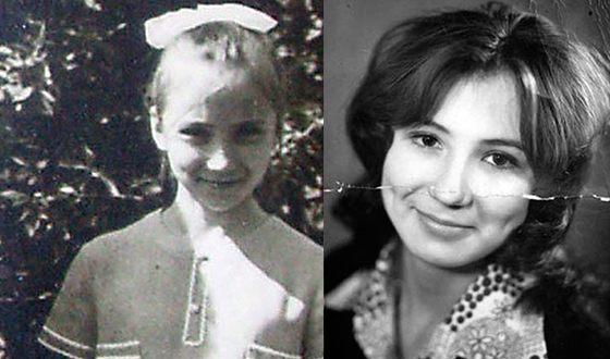 Маша Рраспутина в детстве. Фото