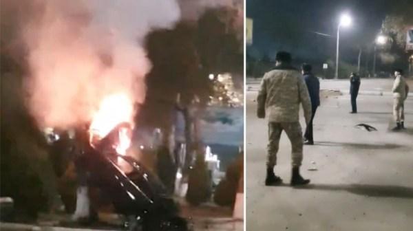 Ночью в Ташкенте Malibu врезался в дерево и загорелся ...