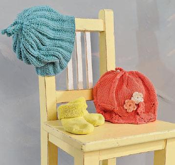 Вязание для малышей Четыре шапочки спицами