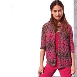 Вязание для женщин. Меланжевый жакет спицами