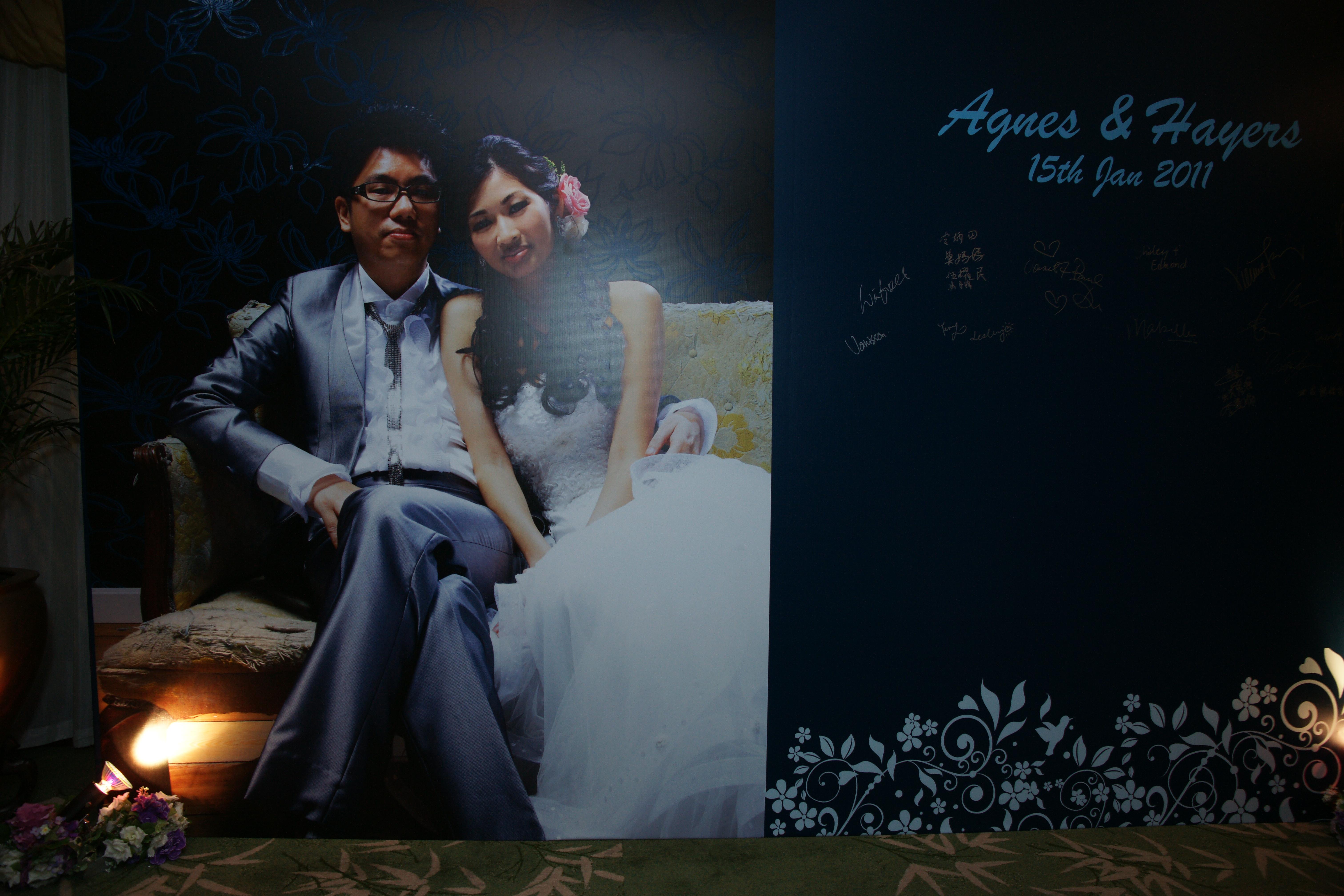 設計及製作你們的簽名佈景板(噴畫)   UZ Wedding