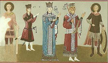 Carica Tamara na freske