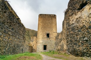 Tower in Khertvisi fortress on mountain. It is one of the oldest fortresses in Georgia