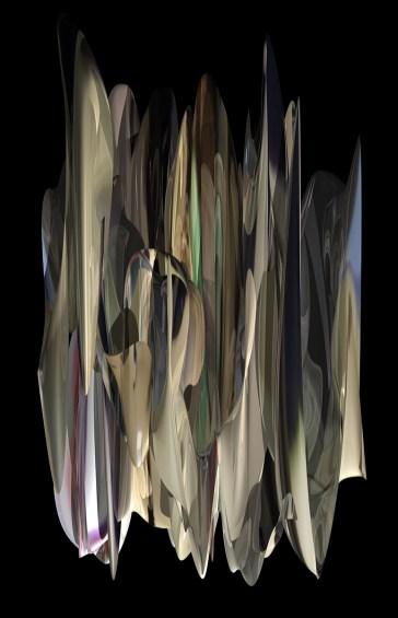 """""""Escalier mécanique à la Défense"""", Réinterprétation dimensionnelle n° r_362c, vue de la caméra 1, 2013"""