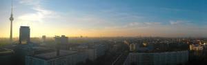 Traffics Ausblick aus dem Büro über Berlin