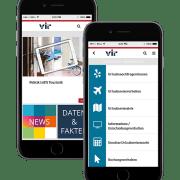 Ansicht der VIR App in einem IPhone