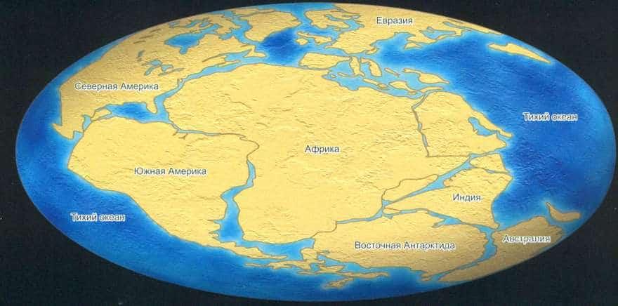 Superctornint Degay w okresie Perm (300-20000 milionów lat temu)