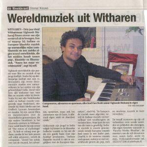 2007  Ommer nieuws  'Wereld muziek uit Witharen'