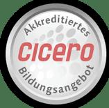 Siegel Cicero, V-Quiz ist ein akkreditierter Anbieter