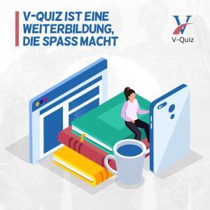 Kostenlos testen Sie die App V-Quiz und erhalten IDD und gutberaten.de Weiterbildungsstunden