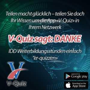 Teilen Sie doch ihr Wissen um unsere V-Quiz-App