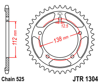 Звезда ведомая JT JTR1304