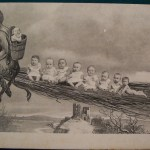 Krampus . Vintage post card