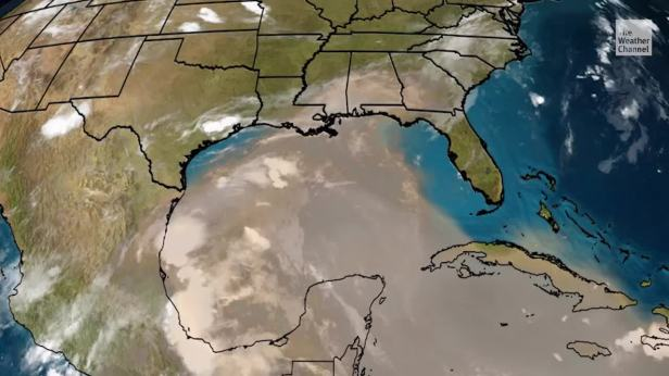 Saharan Air Layer Invades Gulf Coast   The Weather Channel