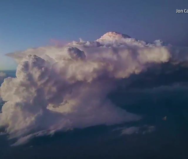 Airplane Passenger Captures Thunderstorm Over New Mexico The Weather Channel