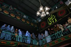 Muharram festival in the Japaria Mosque in Chindawal, Kabul. Muharram/Ashurah in Kabul. The Shia Muslims celebrate Muharram to commemorate the Battle of Karbala and consider this a month of sadness and mourning. The commemoration reaches its climax on the tenth day of Muharram, known as Ashurah. This is the day Husayn ibn Ali, the grand son of the prophet Muhammad was martyred along with his family members and friends in the Battle of Karbala. Many Shia whip themselves with chains and often knives on chains in the days before Ashurah.