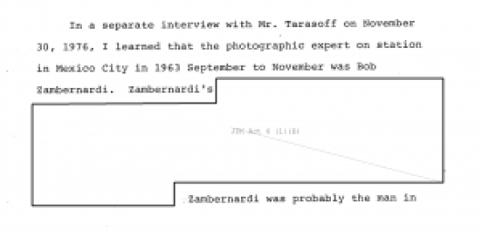 JFK Redacted: