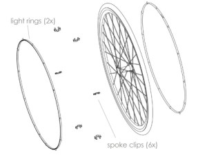 basic schematic showing how Revolights attach to bike