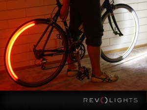 view of Revolights installed on bike