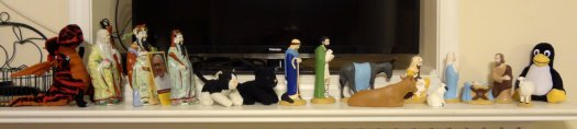 Nativity set visitors