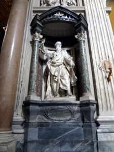 Sculpture of St Paul in St John Lateran