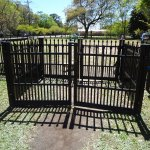 Mixson Ave Dog Park gate