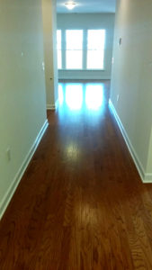 Wood floors down the hallway