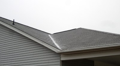 Ice on the roof