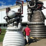 Saturn V rocket engines at Rocket Park
