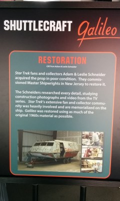 Shuttlecraft Galileo information sign