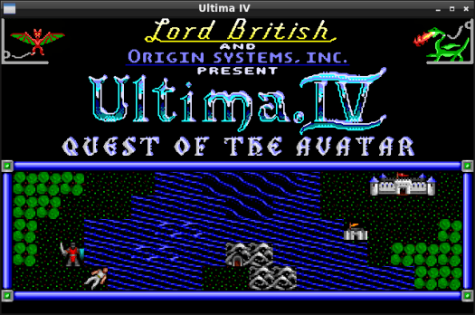 UltimaIV intro screen