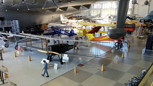 Biplanes under the wing of the Spruce Goose