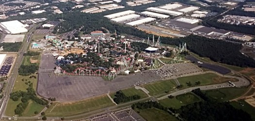 Carowinds from the air