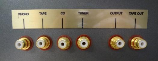 Audio amp back input/outputs