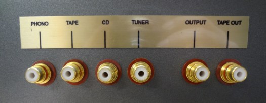 Audio amp back input/outputs