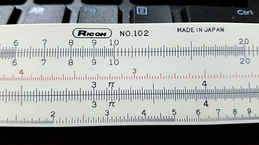 Ricoh No. 102 slide rule