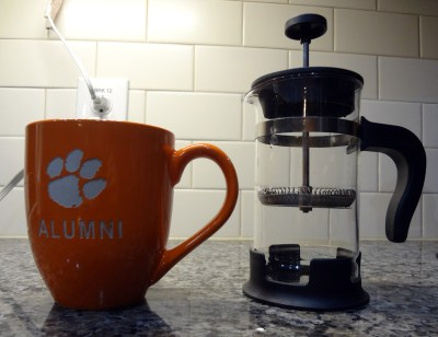New 16 oz Clemson alumni mug for scale.